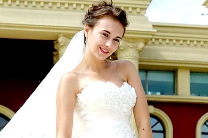 外籍模特拍摄婚纱样片