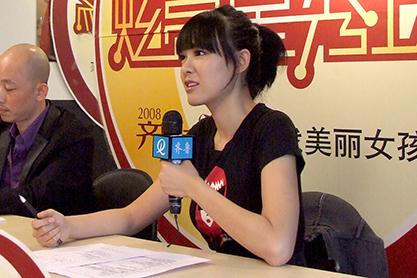 超模李艾在博雅排练厅现场授课