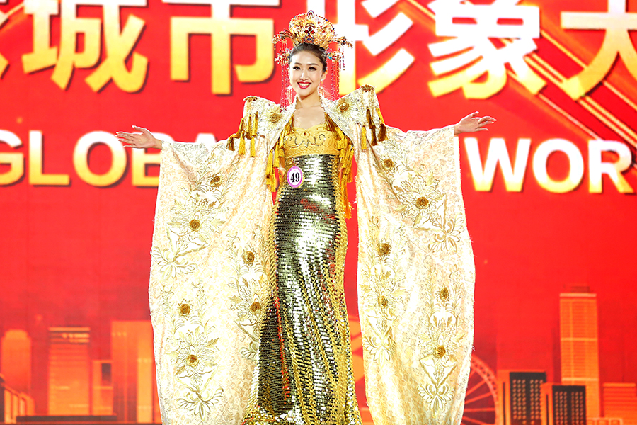 博雅模特,韩潇民族服饰展示。