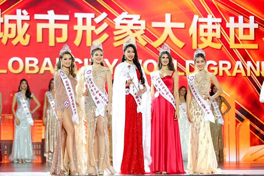中国济南选手韩潇夺得冠军,墨西哥锡那罗亚选手Diana Romero获得亚军,俄罗斯莫斯科选手Evgenia Matveea获得季军。葡萄牙波尔图佳丽Telma Madeira和中国青岛佳丽丁琪分别获得第四名和第五名。